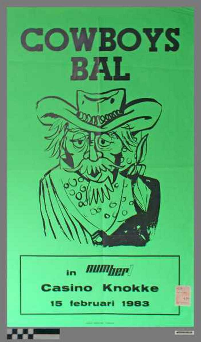 Cowboys Bal, in Number 1 Casino Knokke, 15 Februari 1983