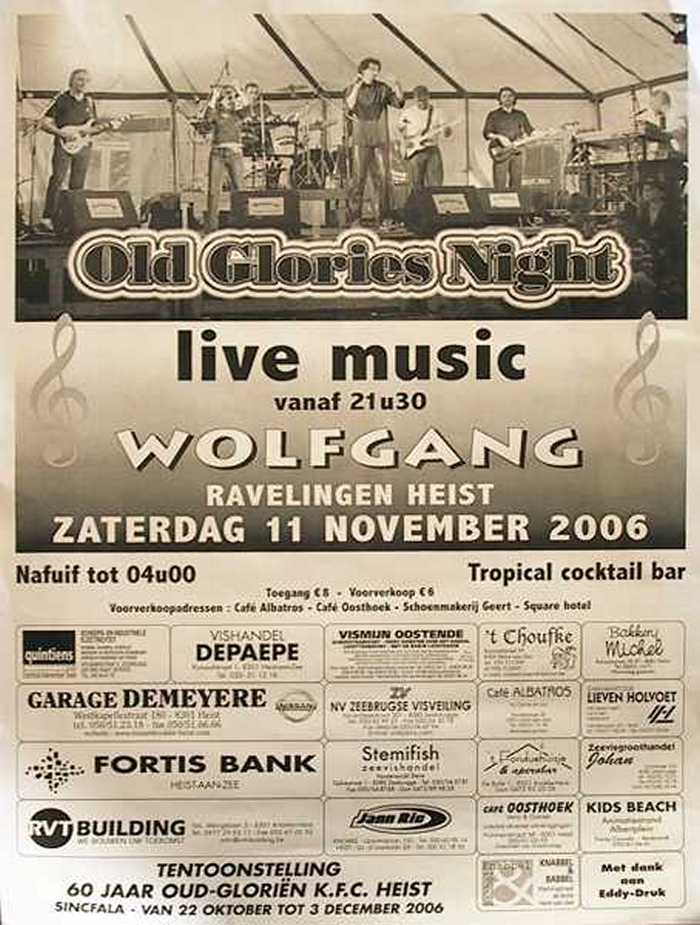 Wolfgang Old Glories Night