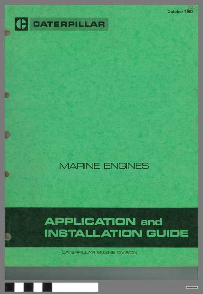 Caterpillar - Marine engines - Application and installation guide
