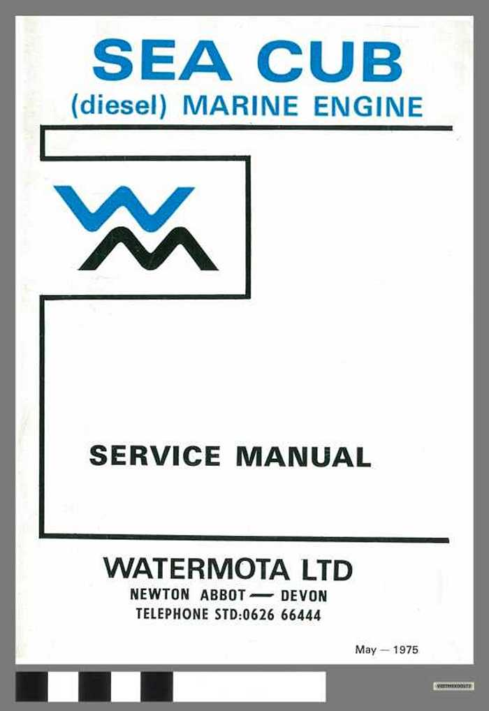 Sea Cub - (diesel) marine engine - Service Manual