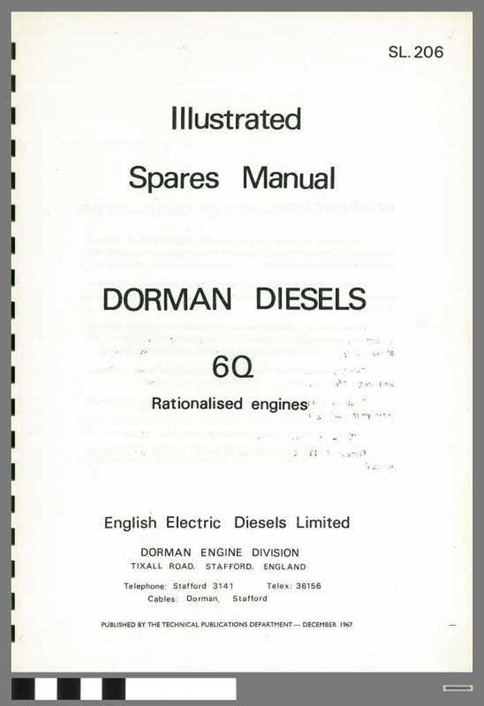 Dorman diesels - Type 6Q - Illustrated Spares Manual