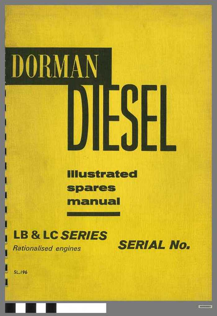 Dorman Diesel - LB & LC Series - Illustrated Spares Manual